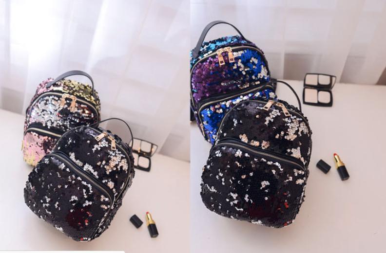 8342c80700d5 Каталог » Оригинальные рюкзаки » Рюкзаки необычной формы » Разноцветные  рюкзачки с переливающимися пайетками.